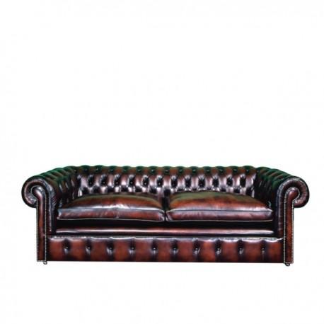 Canapé Chesterfield 4 places en cuirs Oxford Classique
