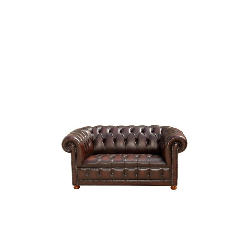canap chesterfield en cuir marron 2 places pas cher. Black Bedroom Furniture Sets. Home Design Ideas