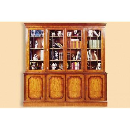 Bibliothèque gothique 4 portes SANS CROISILLONS