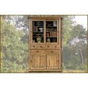 Bibliothèque 2 portes 6 tiroirs en chêne massif