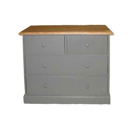 Commode style British avec 4 tiroirs en bois