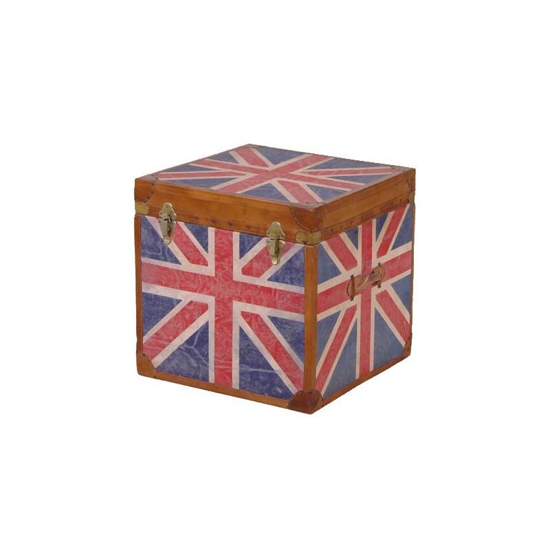 coffre drapeau anglais pas cher british d co. Black Bedroom Furniture Sets. Home Design Ideas