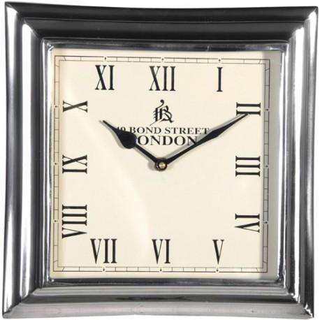 Horloge métal carré