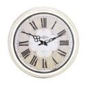 Horloge murale ronde en métal blanc