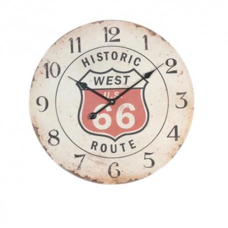 """Horloge murale """"route 66"""""""
