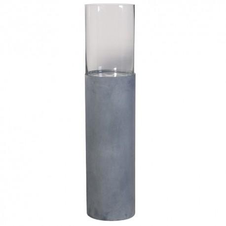 Photophore métal gris