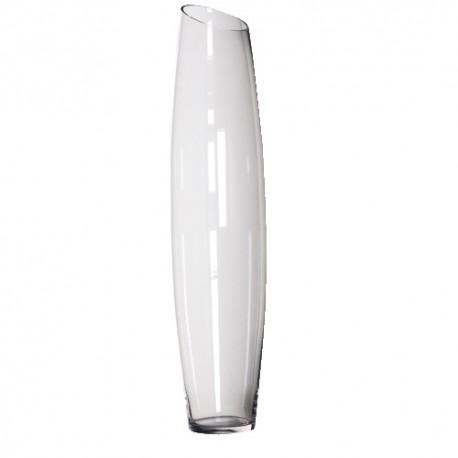 Vase en verre conique H 99 cm