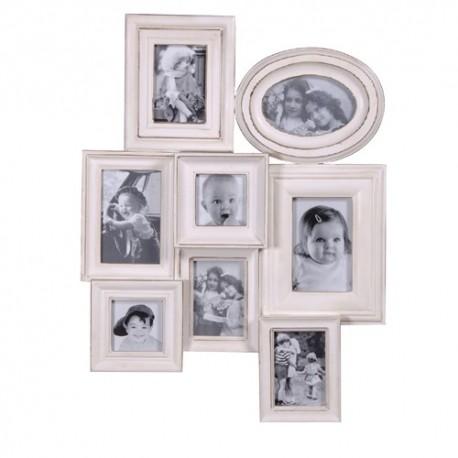 Porte-photos blanc