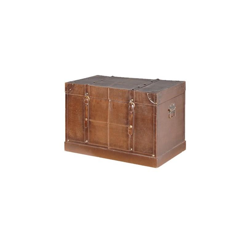 coffre aspect cuir pas cher british d co. Black Bedroom Furniture Sets. Home Design Ideas