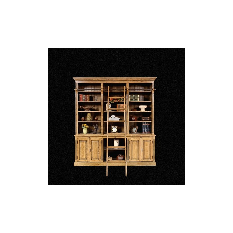 biblioth que echelle ch ne massif pas cher british d co. Black Bedroom Furniture Sets. Home Design Ideas