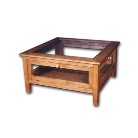 Table basse carrée à abattants