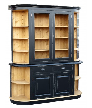 biblioth que en bois pas cher style anglais british. Black Bedroom Furniture Sets. Home Design Ideas
