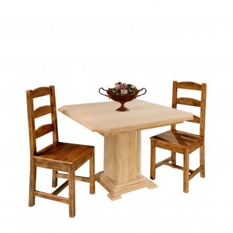 Chaise en chêne brut