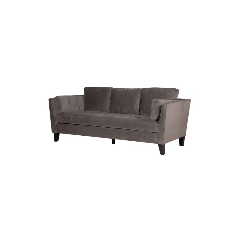 Canape 3 places en velours assise coussins pas cher for Canape en velour