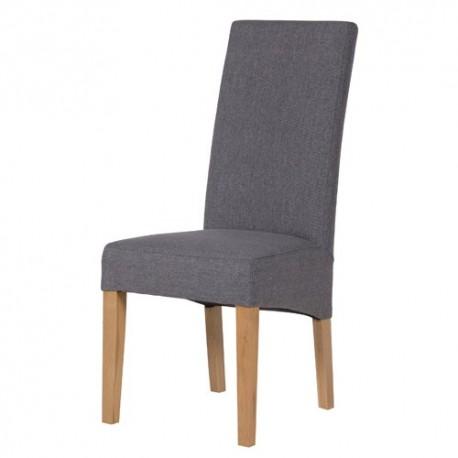 Chaise salle à manger en tissu gris