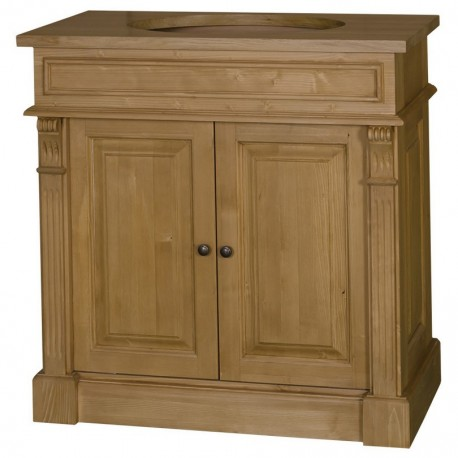 Meuble de salle de bain 2 portes bois de Pin Chesterfield