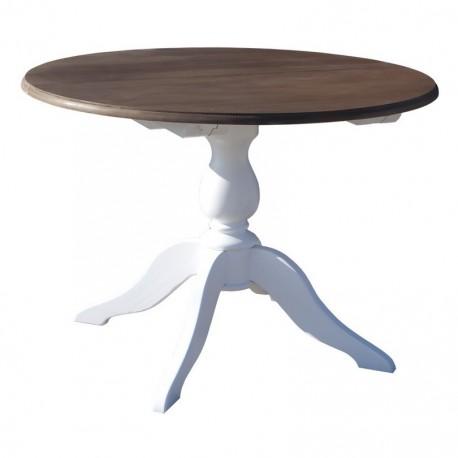 Table de salle à manger ronde en pin massif
