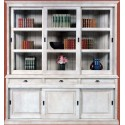Bibliothèque 3 portes coulissantes