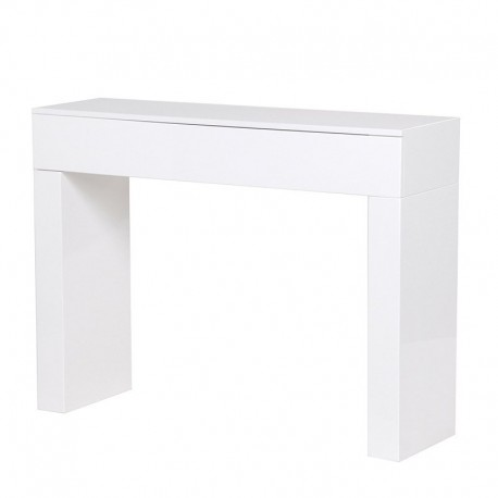 Console rectangulaire laquée blanche