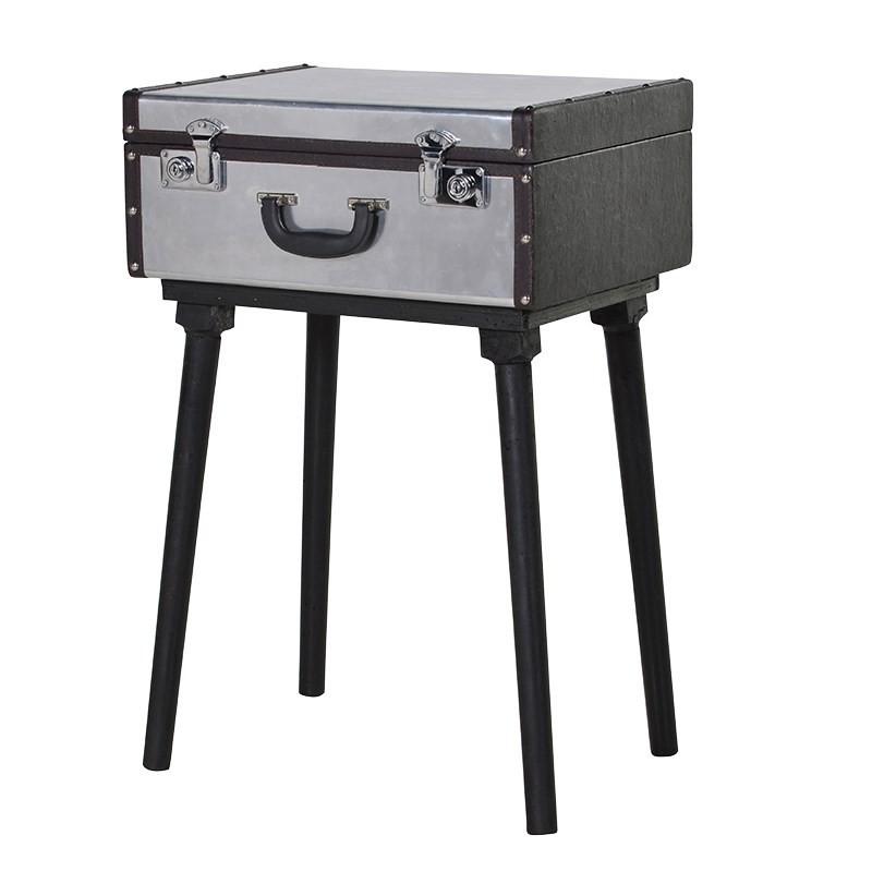 table malette en metal pas cher british d co. Black Bedroom Furniture Sets. Home Design Ideas