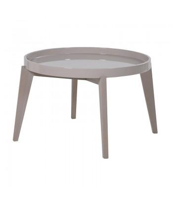 TABLE DE SALON LAQUEE RONDE