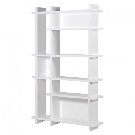 ETAGERE BIBLIOTHEQUE LAQUEE BLANC
