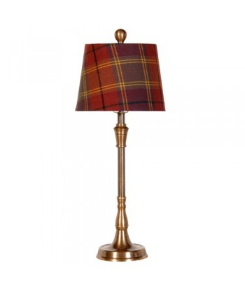 lampe pied laiton abat-jour écossais