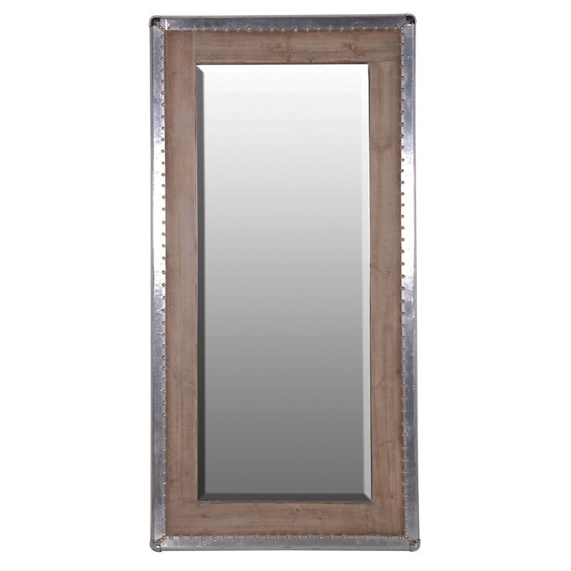 Miroir bois metal pas cher british d co for Miroir metal