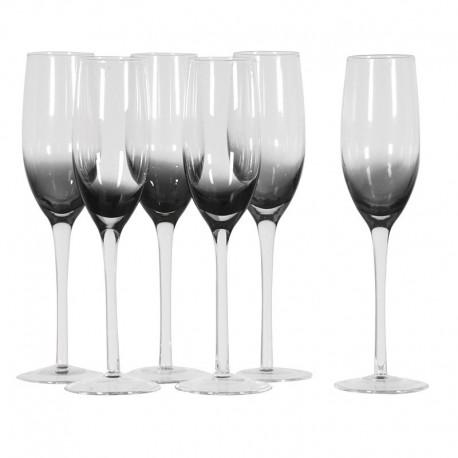 set de 6 flûtes à champagne
