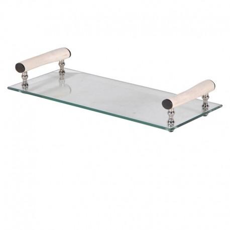 Plateau rectangulaire en verre