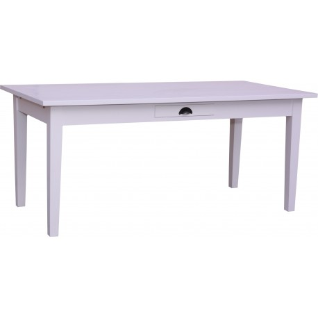 TABLE RECTANGULAIRE EN PIN creme