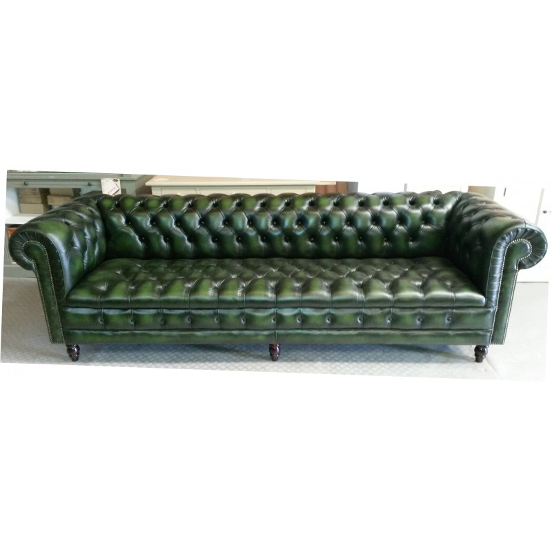 Canape chesterfield 4 places cuir vert pas cher british d co for Canape chesterfield cuir occasion
