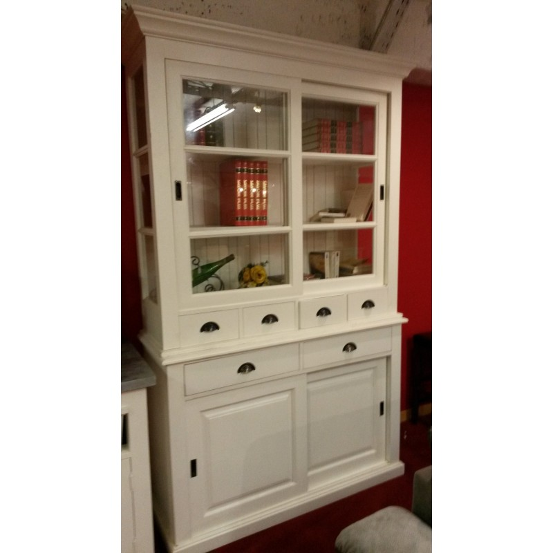 biblioth que 2 portes 6 tiroirs en ch ne massif pas cher. Black Bedroom Furniture Sets. Home Design Ideas