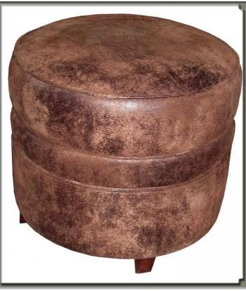 pouf rond ou carré en tissu microfibre