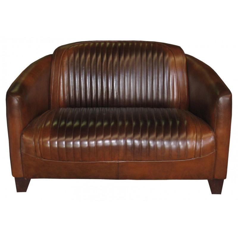 canape club 2 places en cuir sport pas cher british d co. Black Bedroom Furniture Sets. Home Design Ideas
