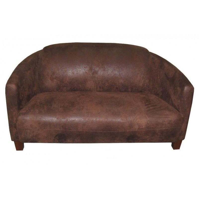 canap club 2 places en tissu microfibre pas cher. Black Bedroom Furniture Sets. Home Design Ideas