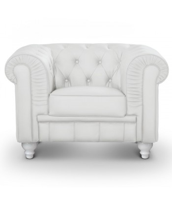 Fauteuil Chesterfield Blanc