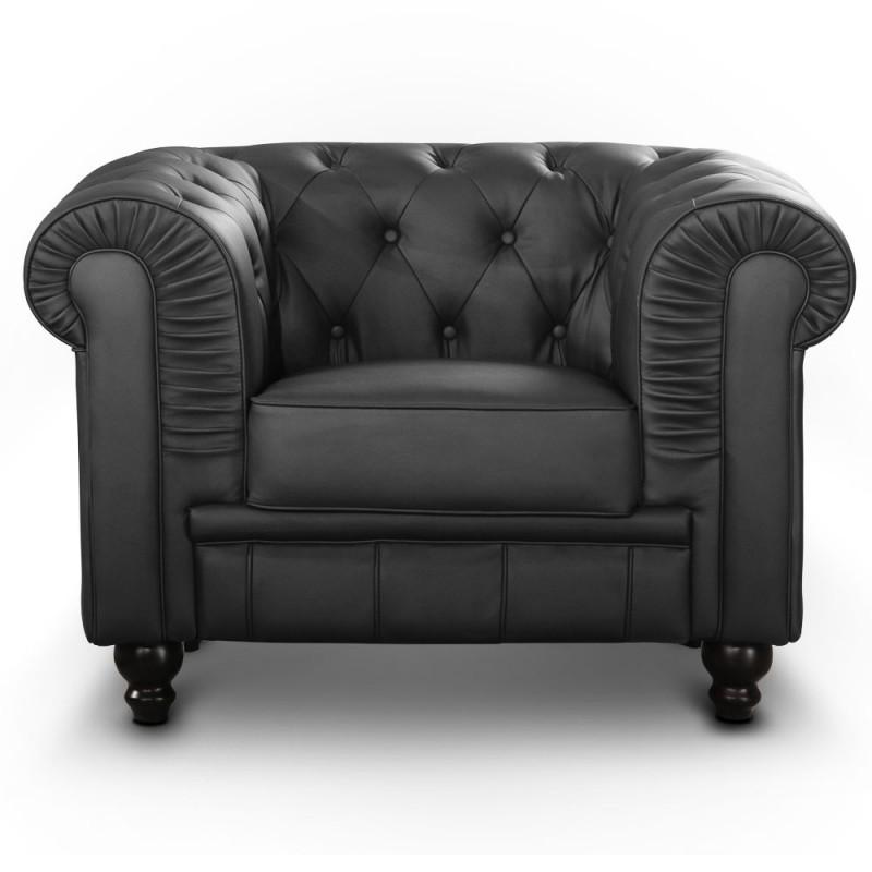fauteuil chesterfield noir pas cher british d co. Black Bedroom Furniture Sets. Home Design Ideas