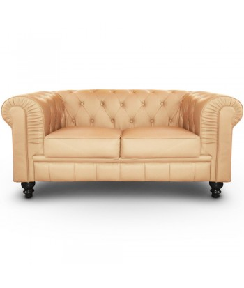 Canapé 2 places Chesterfield Beige