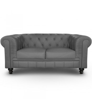 Canapé 2 places Chesterfield Gris
