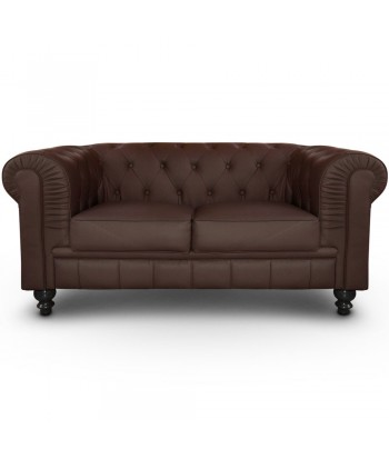 Canapé 2 places Chesterfield Marron