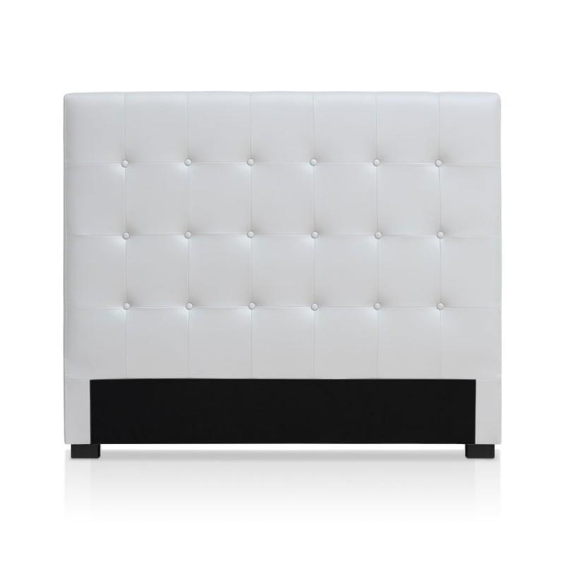 t te de lit blanche 140cm pas cher british d co. Black Bedroom Furniture Sets. Home Design Ideas