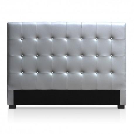 Tête de lit argenté 160cm