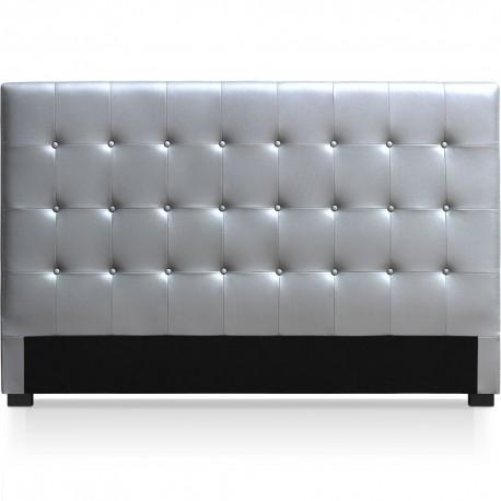 Tête de lit argenté180cm