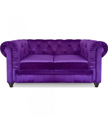 Canapé 2 places Chesterfield Velours Violet