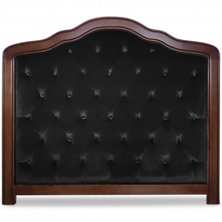 Tête de lit capitonnée 140cm Velours Noir