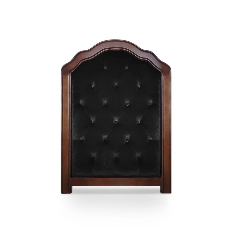 T te de lit capitonn e 90cm velours noir pas cher british d co - Tete de lit capitonnee pas cher ...