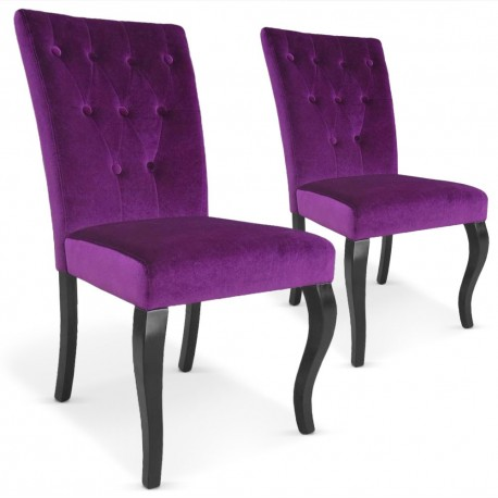 Chaises Retro Chic : Lot de 2 Violet Lot de 2