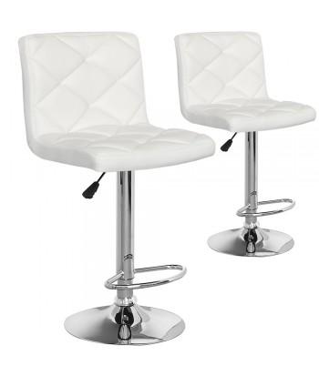 Lot de 2 chaises de bar Verano Blanc