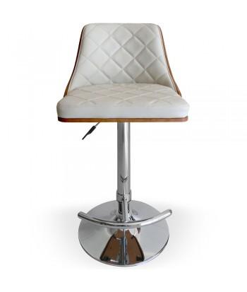 Chaise de bar Cadix Bois Noisette & Crème